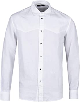 Diesel Camisa de Lino Blanca S-Plan: Amazon.es: Juguetes y juegos