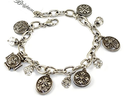 Brighton Shields Of Faith Swarovski Crystal Silver Bracelet