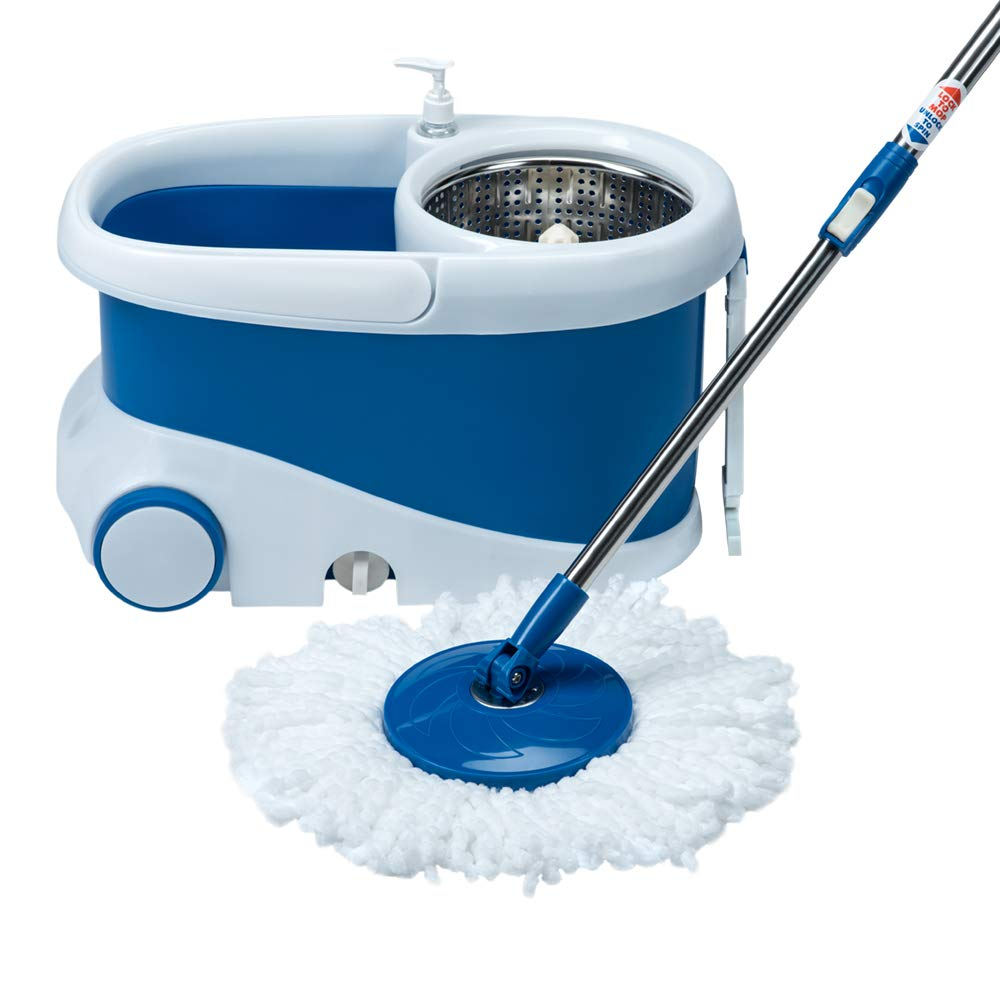 Gala Jet Spin Mop With Stainless Steel Wringer, Jumbo Wheels