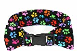 Calm Me Down - Calming Collars for Dog Anxiety - Small, Black with Paw Prints