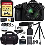 Cheap Panasonic Lumix DMC-FZ1000 4K QFHD/HD 16X Long Zoom Digital Camera (Black) + Transcend 64 GB UH3 SD Card + 72 inch Tripod + Filters + Spare Battery + Camera Bag + Accessory Bundle