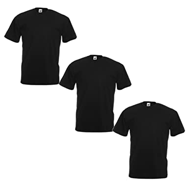 dc4363ec85c8 Fruit of the Loom Men's T-Shirt (Pack of 3): Amazon.co.uk: Clothing