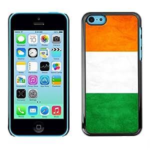 PC/Aluminum Funda Carcasa protectora para Apple Iphone 5C National Flag Nation Country Ivory Coast / JUSTGO PHONE PROTECTOR