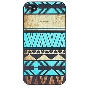 TY- estilo popular con corazones negros pattern pc caso duro para el iphone 4 / 4s