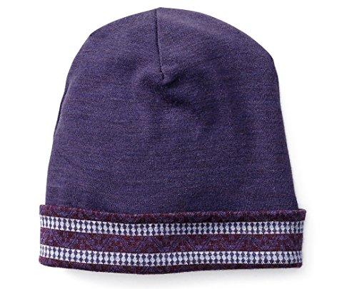 SmartWool Kids' Merino 250 Reversible Pattern Cuffed Beanie (Mountain Purple) (Reversible Wool Beanie)