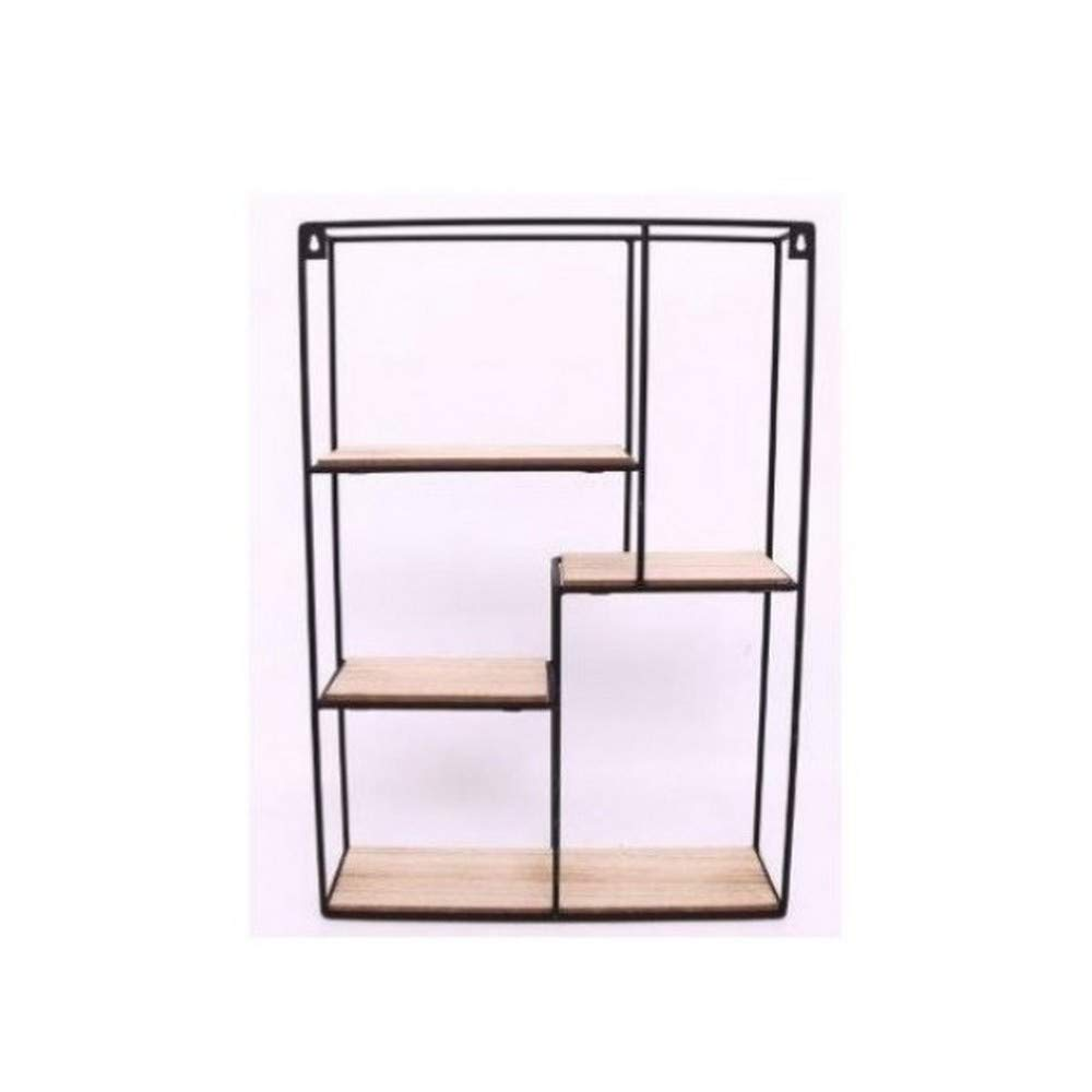 Gainsborough Giftware Wood & Wire Multi Shelf Display Unit (21 x 15 x 4in) (May Vary)