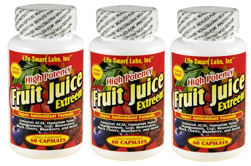 Jus de fruits Extreem MC HAUTE PUISSANCE Amazon ACAI, myrtille, baie de Goji, Mangoustan, Noni hawaïen, Black Cherry, le resvératrol, en plus, antixidants, jus de fruits extrême