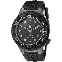 Swiss Legend Men's 21848D-PHT-01 Neptune Black Dial Black Silicone Watch