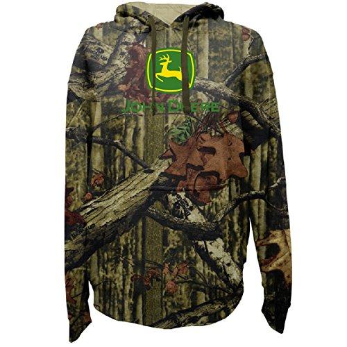 John Deere Men's Logo Camouflage Hooded Sweatshirt, X-Large, Camouflage (John Deere Mens Sweatshirt)