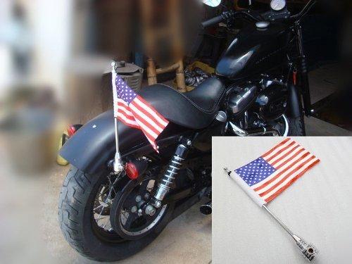 Amazon Com 15 1 2 Motorcycle Rear Side Mount Flag Pole W Flag