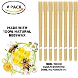 UOOUN Beeswax Original Scented Candling Cones - 100% Pure Natural Candles Non-Toxic Cylinders 8 Packs 8 Protective Disks (4 Pairs)