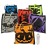 Halloween Trick or Treat 3 Tote Bag Set and 12 Jelly Bracelets for Halloween Costume Accessories or for Halloween Goodie Bags