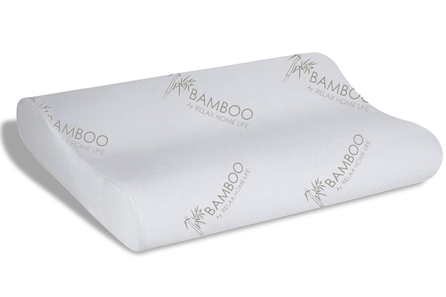 Relax Home Life Cervical Contour Memory Foam Bamboo Pillow | Stay Cool Removable Cover by Bamboo (King 14.5'' x 28'')