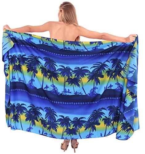78x39 Blu Surf Donne LA e640 Spiaggia LEELA Sarong Coprire da Likre Morbido Barca Fino Bagno Navy Costume Pollici wwOqZCWtxf