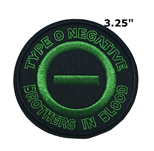 Type O Negative Music Band Embroidered Sew or Iron-on Patch Badge DIY Application (Halloween Type O Negative)