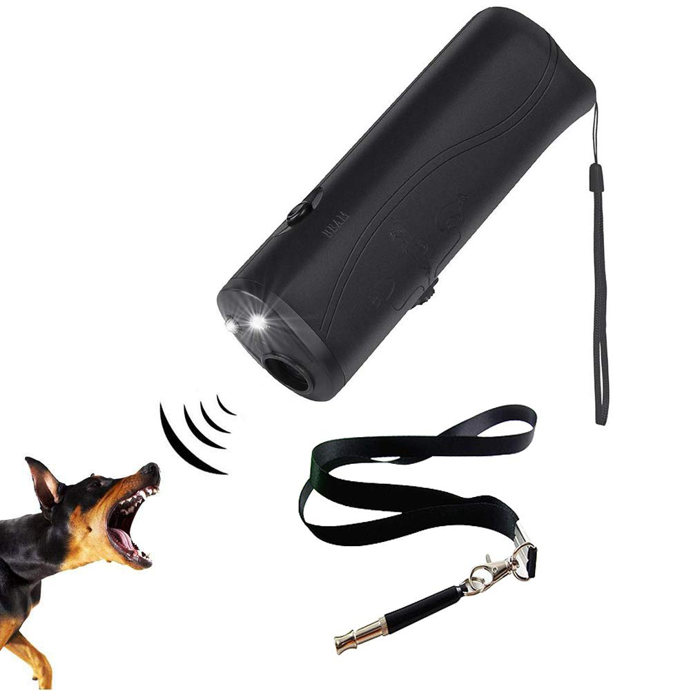 kathson Dog Anti Barking Devices Ultrasonic Dog Whistle Ultrasonic Bark Control Barking Deterrent Pet Collarless Trainer with LED Light for Dogs Puppy Outdoor by kathson