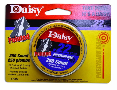 Daisy Outdoor Products .22 Cal. Pointed Pellets 250ct (Silver, 5.5 mm) (Pointed 22 Pellets)