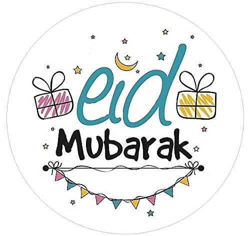Uniquedesignz Eid Mubarak Stickers 70 Labels to put on favour party bags Sweet cones Non Personalised By