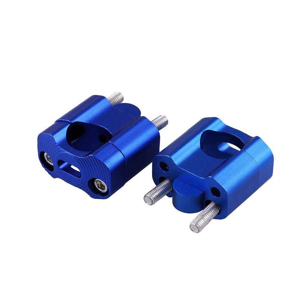 SGTGB 7//822mm per il manubrio del morsetto del riser del manubrio del motociclo Colore : Blu