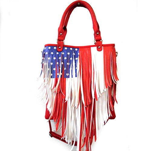 Women's Flag Rhinestone Western Concealed Carry Purse American qXgxPPAwZ