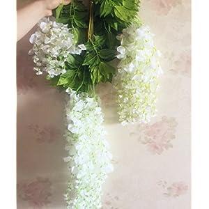12pcs Wisteria Vine 105cm Artificial Wisteria Flower Vines for Wedding Party Decorative Flower Rattans 7