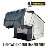 Budge Fifth Wheel RV Cover Fits Fifth Wheel RVs up to 26' Long (Gray, Polyproplyene)