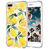 MOSNOVO iPhone 8 Plus Case, iPhone 7 Plus Case, Lemon Clear Design Transparent Printed Plastic Hard Back Case with TPU Bumper Protective Case Cover for Apple iPhone 7 Plus/iPhone 8 Plus