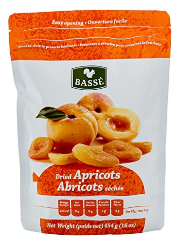 Basse Fruit Dried Apricots, 2 Resealable Bags (1 lb each)