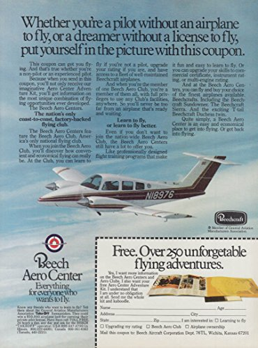 Beech Entertainment Center - Everything for everyone who wants to fly Beech Aero Center ad 1979