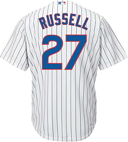 Addison Russell Chicago Cubs White Youth Cool Base Home Replica Jersey (X-Large 18/20)