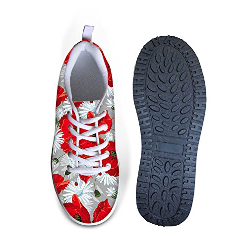ThiKin Sweety Style Flowers Mesh Wedges Shoes Platform Sneakers #1 Color nn9pUrlML