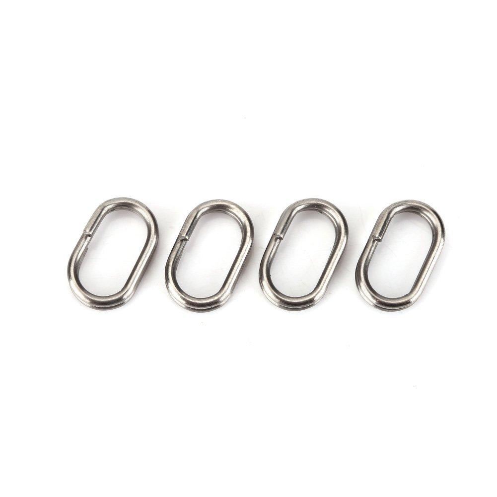 100pcs Edelstahl Oval Split Rings Swivel Snap Karpfen Angelger/ät Stecker Fishlor Angeln Spaltringe