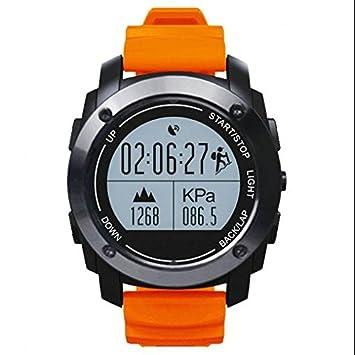 Smartwatch Bluetooth Reloj Deportivo ritmo cardiaco Tracker, diseño elegante, reloj inteligente metálico, cómodas
