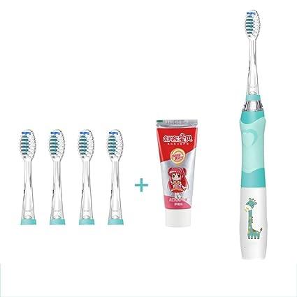 Cepillo de dientes eléctrico para niños de 3 a 6 años de edad, pelo suave