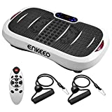 ENKEEO Fitness Vibration Trainer Exercise Power Plate Machine Whole Body Shaking Board Oscillating Platform With 5 Kinds Program Sessions and 99 Levels Speeds In Gym, Home And Office(Max Load 150kg)