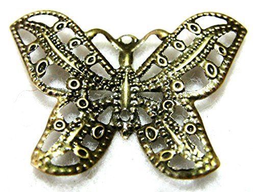 20Pcs. Tibetan Antique Bronze Butterfly Charms Ear Drops Jewelry Finding BF10A Crafting Key Chain Bracelet Necklace Jewelry Accessories Pendants