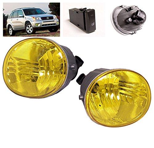 (ZMAUTOPARTS Bumper Driving Fog Lights Lamps Yellow For 2004-2005 Toyota RAV4 / 2005-2007 Avalon / 2006-2009 4Runner)