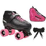 #3: Epic Skates Epic Super Nitro Pink Quad Speed Roller Skates (3-piece Bundle) 6