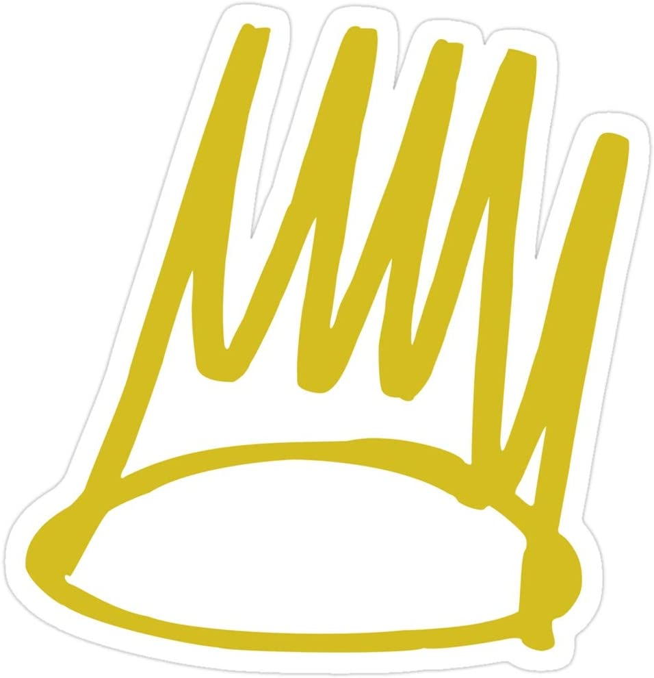 Hik kal Shop J. Cole - Born Sinner Crown Stickers (3 Pcs/Pack)