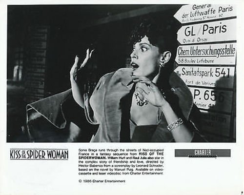 SONIA BRAGA/KISS OF THE SPIDER WOMAN/8X10 COPY PHOTO BB2674