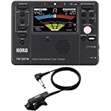 Korg TM50TR-BK Tone Trainer Metronome Tuner with CM-200 Clip-On Microphone (black)