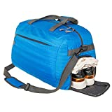 Coreal Duffle Bag Sports Gym Travel Luggage Including Shoes Compartment Women & Men, Blue