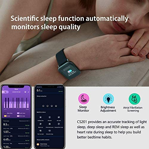 MorePro 18 Sports Mode Smart Watch with Music Control, DIY Screen Fitness Tracker with Blood Oxygen Heart Rate Monitor, Sleep Tracker with Pedometer Step Calories Counter for Men Women 516RtWMZ8SL