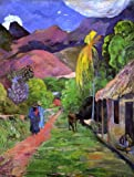 """18.1"""" x 24.1"""" Paul Gauguin Road in Tahiti premium canvas print reproduced to meet museum quality standards. Our Museum quality canvas prints are produced using high-precision print technology for a more accurate reproduction printed on high quality c..."""