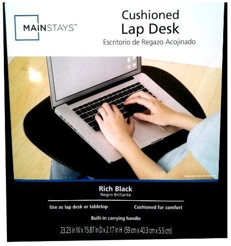 MAINSTAYS Cushioned Lap Desk - BLACK