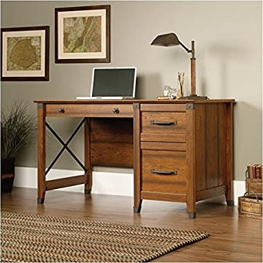 Sauder Carson Forge Desk, Washington Cherry Finish