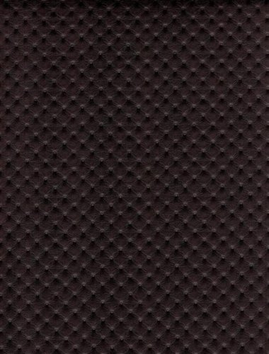 Chocolate Perforated Distressed Upholstery Faux Leather V...