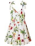 Jxstar Girls Summer Dresses Casual Adjustable Shoulder Floral Printed Party