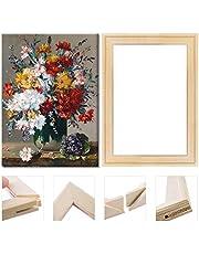 "DIY Wooden Art Frames, Art Stretcher Bars, Solid Wooden Art Frame Set for Paintings, Wall Art, Art Oil Painting Exhibition, 30x40cm/12""x16"""