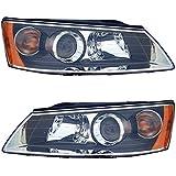 Fits NEW 06 07 08 Hyundai Sonata Headlight Headlamp Pair